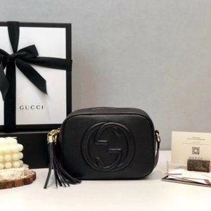 Gucci Black Leather Soho Disco Crossbody Bag495698